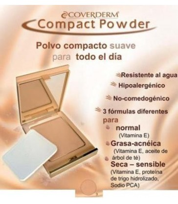 Coverderm Polvo Compacto Piel Normal 02 10 gr