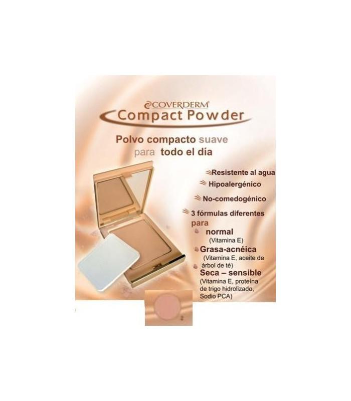 Coverderm Polvo Compacto Piel Grasa/Acn