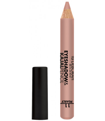 Deborah Sombra Eyeshadow & Kajal Pencil 11 Golden Pink Finish Pearly